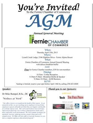 Fernie chamber of commerce agm fernie chamber agm2013invite spiritdancerdesigns Choice Image