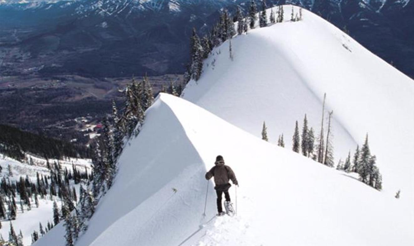 Fernie snowshoeing
