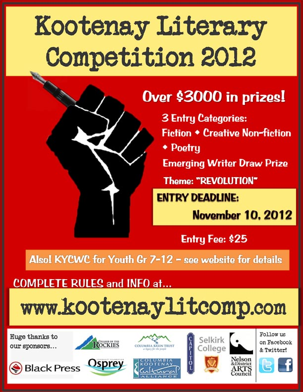 writing competitions 2012 Lists of free writing competitions - poetry / short story fiction.