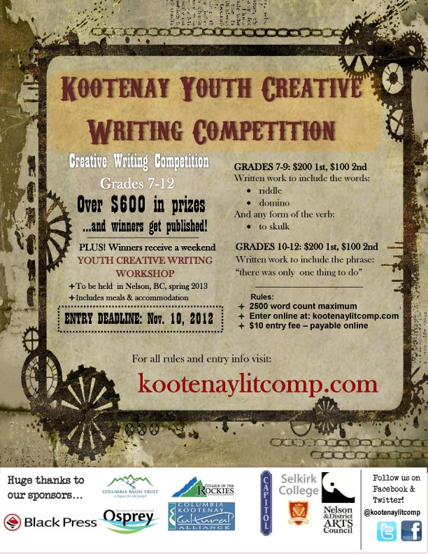creative writing competitions 2012