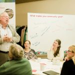 Residents participate at an Our Trust, Our Future community workshop