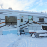 RV Snow covered