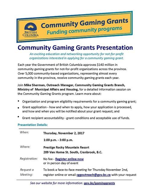Community Gaming Grants Presentation