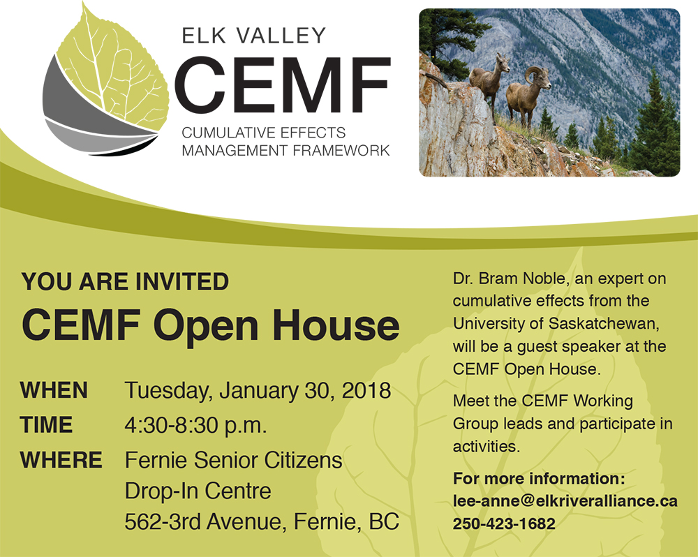 Cumulative Effects Management Framework Open House