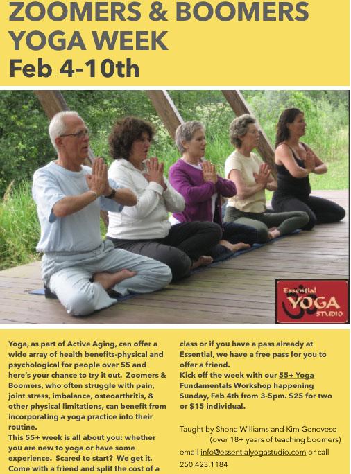 Yoga Workshop for 55+ Yr Olds
