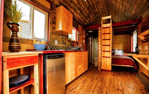 Hummingbird tiny home interior