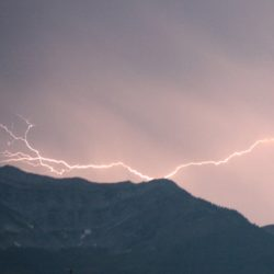 Lightening Strike starts Fernie Fire