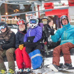 "First Chair ""Crazies"" on Opening Day"