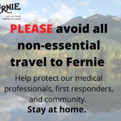 City of Fernie asks Weekenders to Stay Home